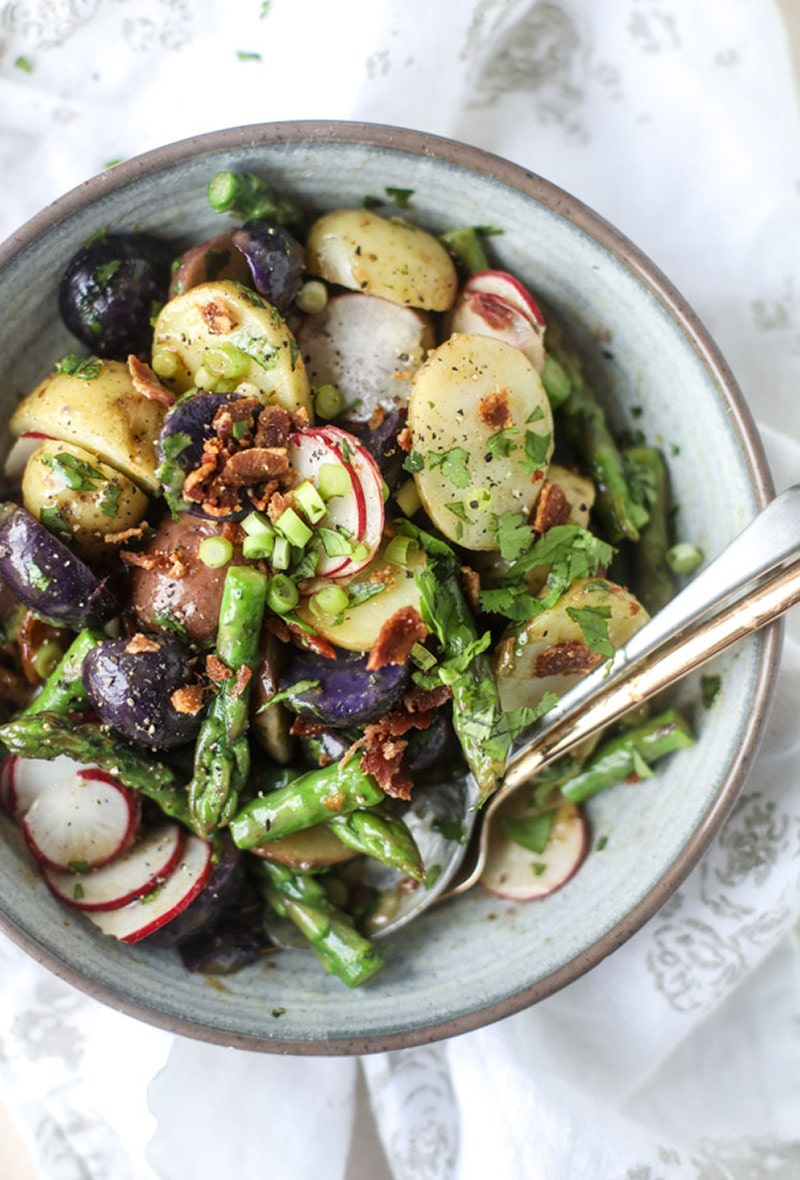 asparagus-potato-salad-hot-bacon-dressing