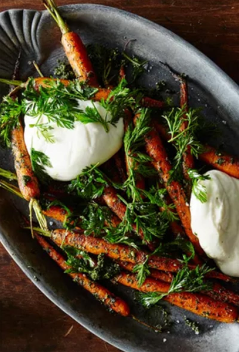 carrots and burrata