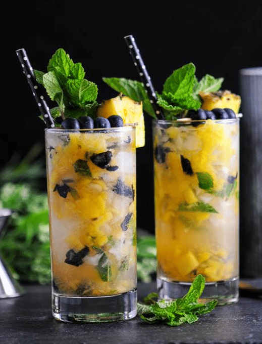 Blueberry Pineapple Mint Mojito